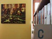 Obrazy s industriálními náměty se ve vyškovské knihovně objevují vůbec poprvé.