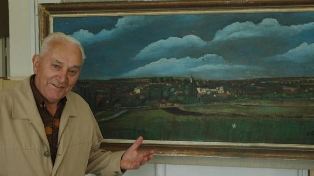 Fotograf Zdeněk Tichý je autorem i několika obrazů.