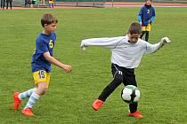 Okresní kola fotbalového Mc Donald´s Cupu se hrávají na trávníku hlavního stadionu ve Vyškově. Snímky jsou v loňského turnaje.