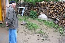 Záplavy ve Slavkově a v Milonicích.