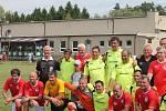 Snímek je z oslav 100. výročí založení TJ Nesovice. Na letošek vychází devadesátiny fotbalového oddílu.