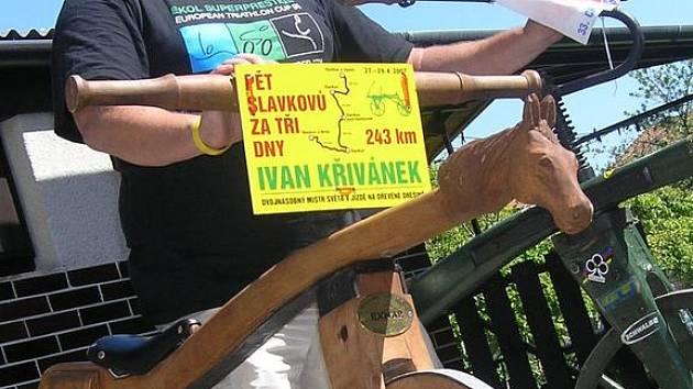 Ivan Křivánek překonal minulý týden svůj osobní rekord.Jízdě na kostitřasu se věnuje už tři roky.