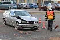 Nehoda kousek za vyškovským gymnáziem v místě na čas zkomplikovala dopravu.