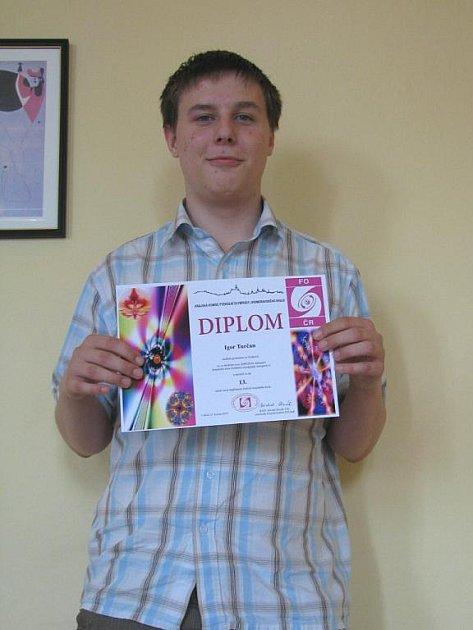 Student druhého ročníku gymnázia ve Vyškově Igor Turčan z Dědic.