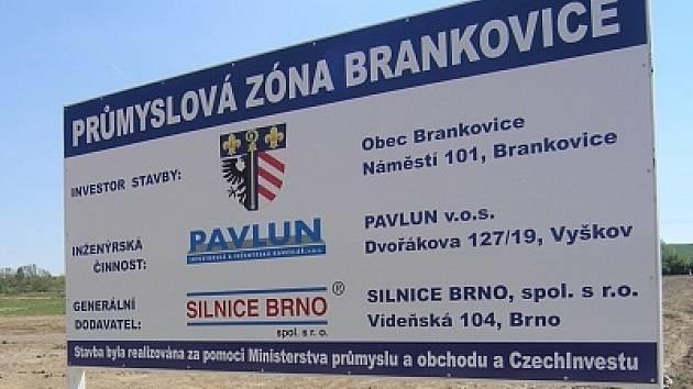 Zóna v Brankovicích je ve výstavbě už tři roky.