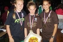 Na žákovském mistrovství republiky v letním biatlonu ve Starém Městě pod Landštejnem vybojovala štafeta dívek z Vyškova zlatou medaili a v jednotlivkyních byla Dagmar Dvořáková (vlevo) třetí.