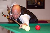 Utkání krajského přeboru I. třídy v karambolovém kulečníku družstev KPK Vyškov – Pohořelice B (10:8) rozhodl domácí hráč Martin Studňař.