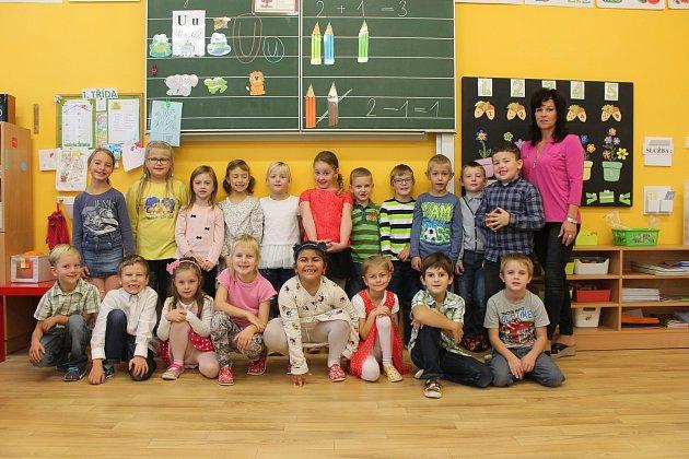 První třída Základní školy Švábenice spaní učitelkou Danielou Plhalovou.