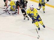V utkání krajské hokejové ligy na zimním stadionu ve Vyškově porazil domácí Sokol Březina Lvi Břeclav 7:5.