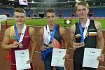 Titul juniorského mistra republiky ve skoku o tyči si z Vítkovic přivezl Sebastian Hajzler z AHA Vyškov.