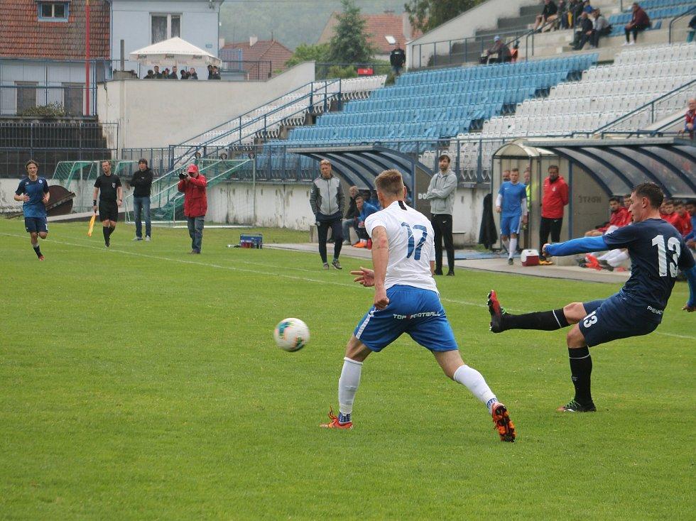 Z červnového přípravného utkání Vyškov - Blansko v Drnovicích.