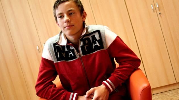 Patnáctiletý Petr Míka by chtěl studovat ekonomii.