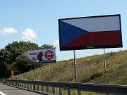 Billboardy kolem D1 a D46.