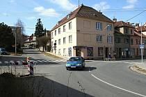 Křižovatka ulic Havlíčkova, II. odboje a 9. května ve Vyškově.