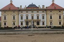 Hubertova jízda na slavkovském zámku.
