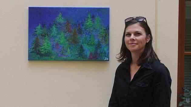 Irena Mikulová z Vyškova  vyjadřuje ve svých obrazech své pocity.