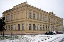 Budova střední zdravotnické školy ve Vyškově.