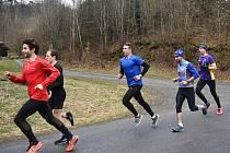 Třetí jarní test běžců AK Drnovice v údolí Říčky.