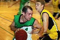 Vyškovští basketbalisté v utkání se Šlapanicemi C.