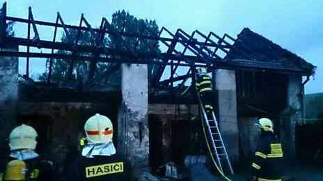 Požár v Bučovicích.