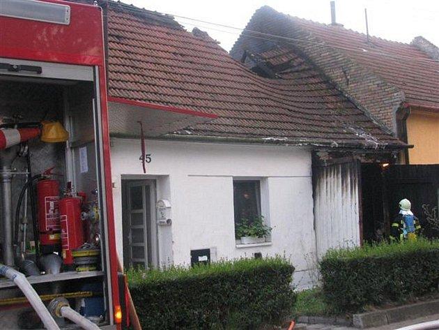 Sobotní požár v Kojátkách