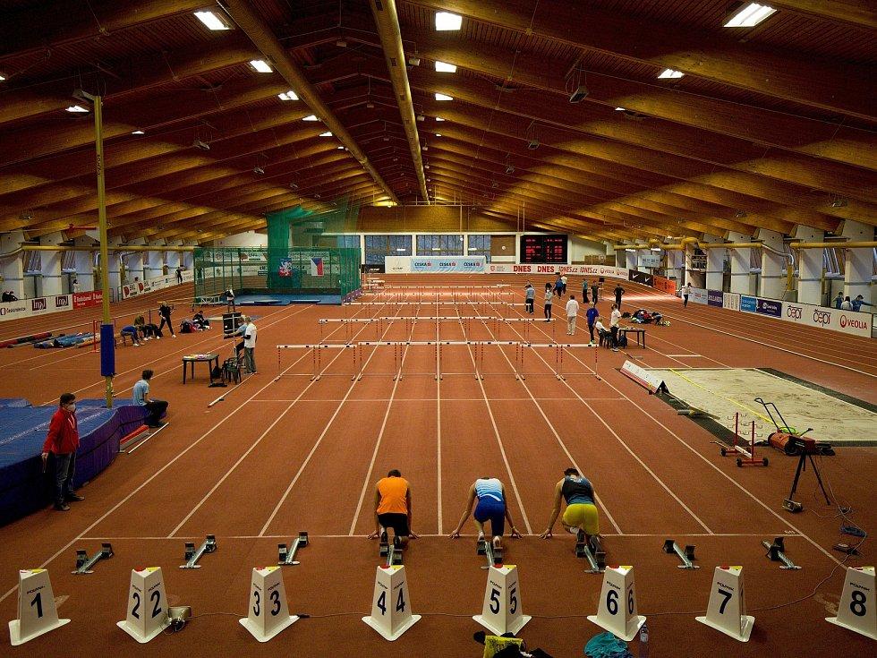 Atletická sportovní hala v pražské Stromovce.