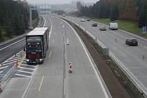 Opravy dálnice u Rousínova. Ilustrační foto.