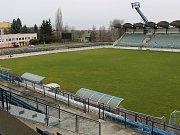 Fotbalový stadion v Drnovicích. Ilustrační foto.