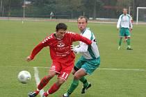 Fotbalisté Vyškova zvítězili nad Bohunicemi díky trefě v závěru utkání.