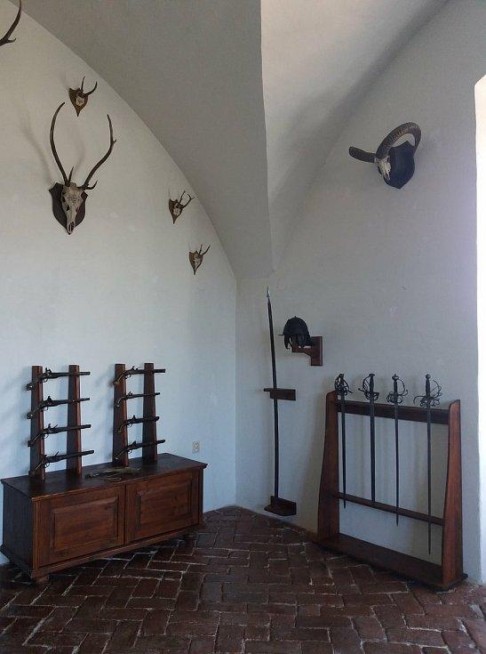 Zbrojnice bučovického zámku.
