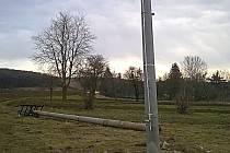 V Prusech-Boškůvkách mají nové sloupy vysokého napětí.