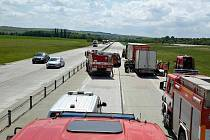 Nehoda na dálnici D46 u Vyškova.