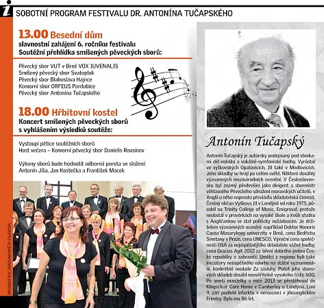Sobotní program festivalu.