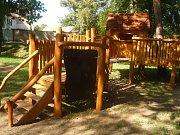 V anketě Dřevěná stavba roku 2018 můžou lidé poslat hlas i dětskému hřišti v Rousínově.
