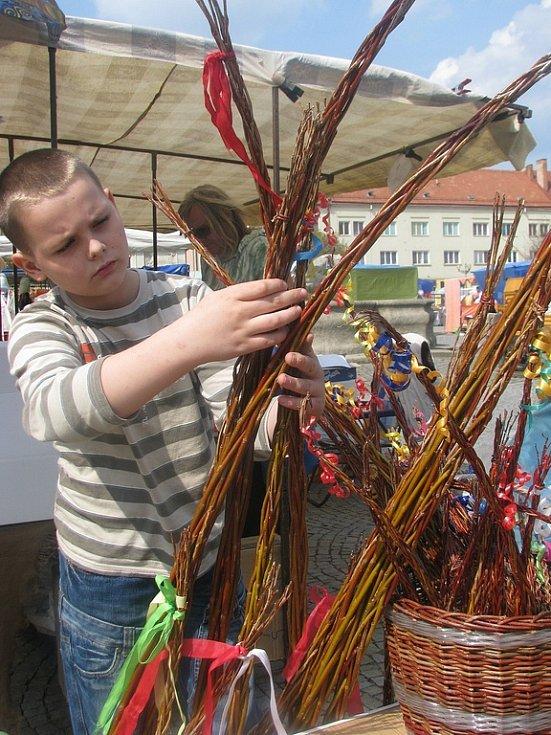 Velikonoční trhy na vyškovském náměstí.