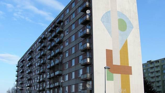Bytový dům na vyškovském Sídlišti Osvobození.