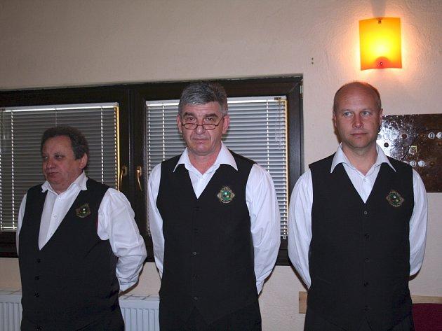 KPK Vyškov (zleva Miroslav Polášek, Petr Kuneš a Martin Studňař).