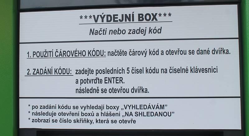 Výdejní box v Medlovicích.