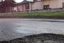 Silnice v Medlovicích. Ilustrační foto.