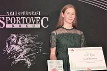 Sportovní lezkyně Tereza Cibulková při letošním vyhlašování nejlepších sportovců Vyškova za rok 2020.