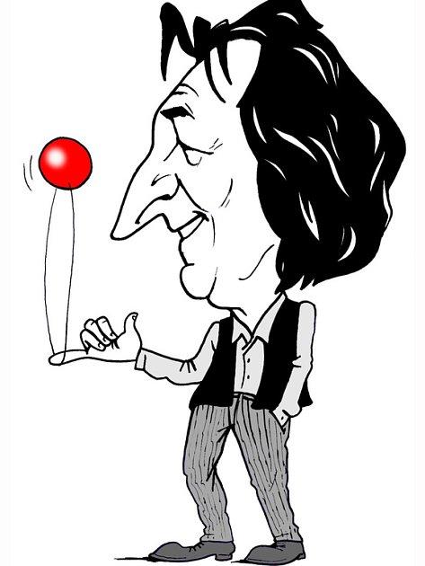 Karikatura Bolka Polívky.