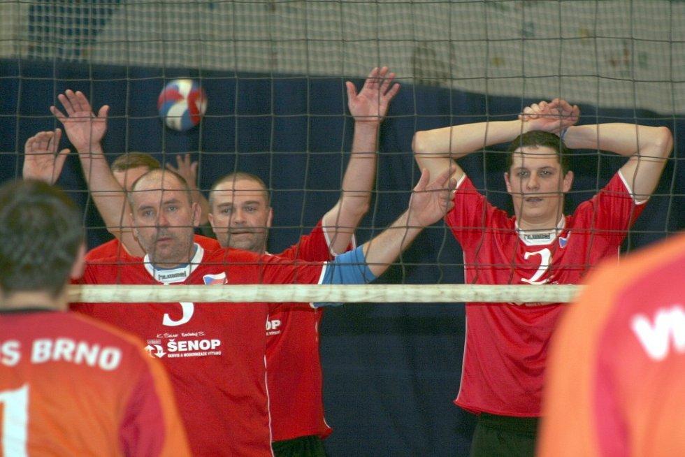 V krajském přeboru I. třídy volejbalistů porazil domácí Volejbal Vyškov Moravskou Slavii Brno 3:0 a 3:2.