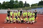 Skupina C,  do které patří družstvo Orlíků, se ve čtvrtek 10. 6. 2021 sešla ve Slavkově u Brna na prvním kole krajské soutěže družstev přípravek.