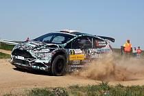 Šestadvacátý ročník automobilové Rally Vyškov vyhrál Roman Odložilík s navigátorem Martinem Turečkem na voze Škoda Fabia R5.