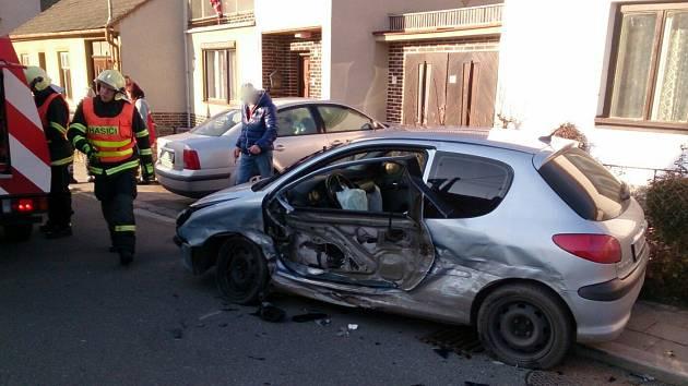 Nehoda v Pístovicích.