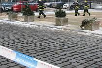 Kostel Nanebevzetí Panny Marie ve Vyškově se ve čtvrtek stal nebezpečnou zónou. Z jeho střechy totiž padal led, který s sebou strhával i křidlice.