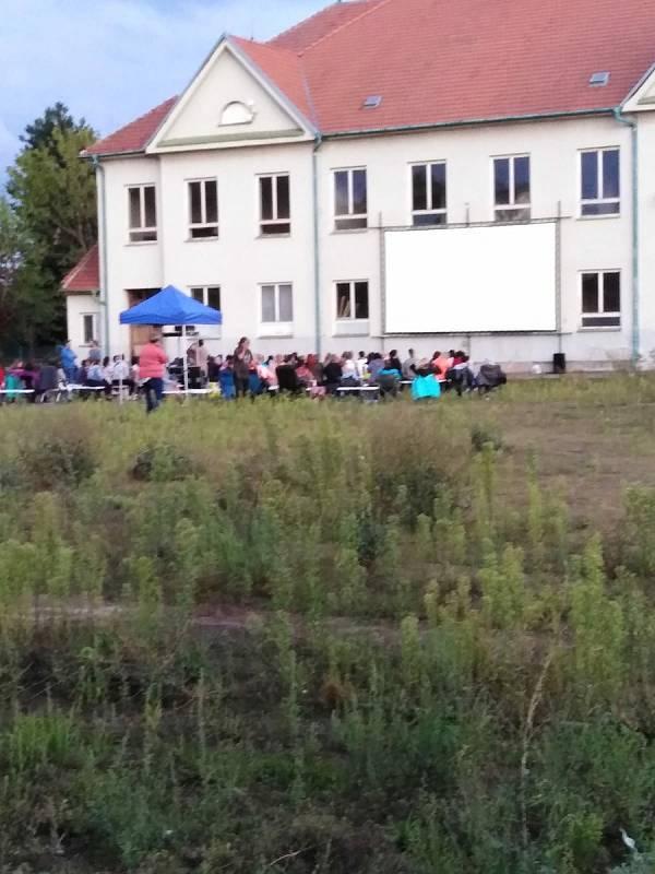 Prostor letního kina ve Vyškově.