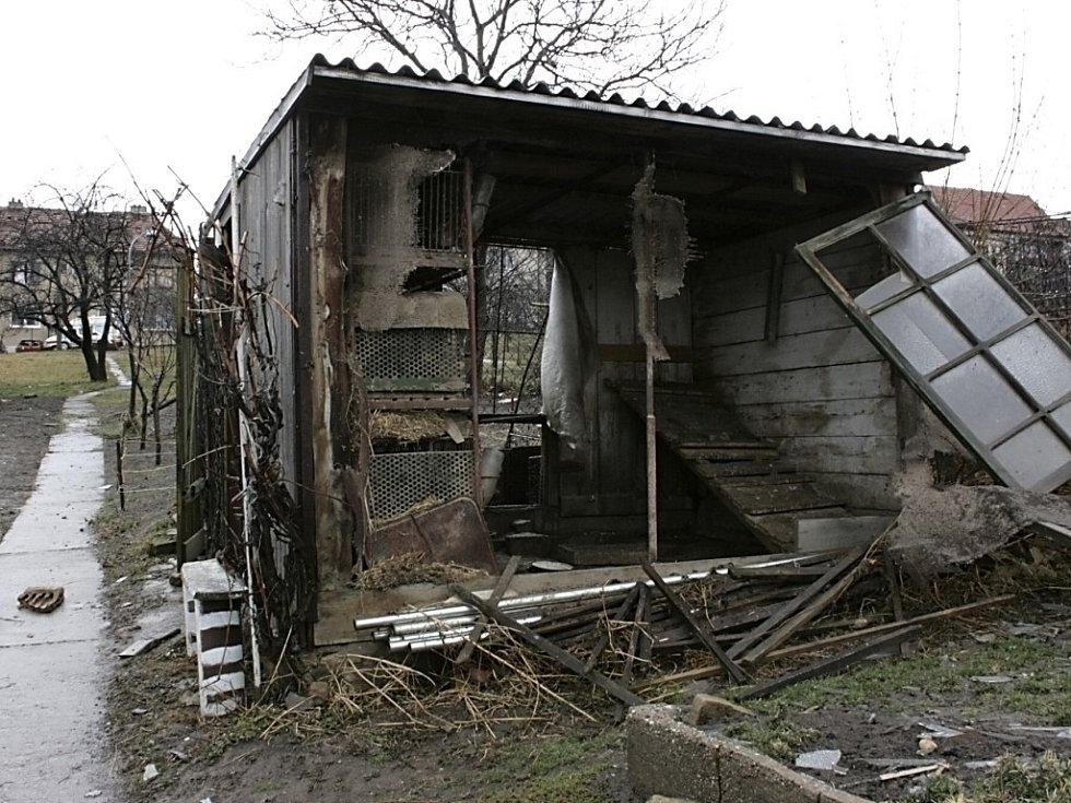 Škody v bučovické místní části Vícemilice