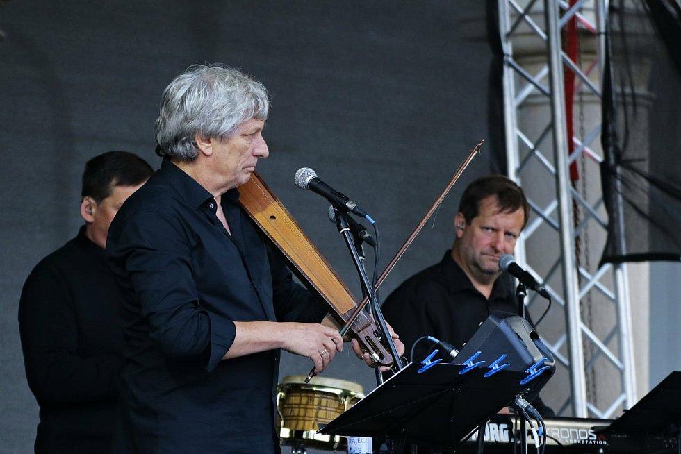 Zámecká zahrada ve Vyškově hostila v úterý 20. července koncert Hradišťanu.