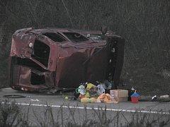 Dopravní nehoda na D1 mezi Vyškovem a Rousínovem